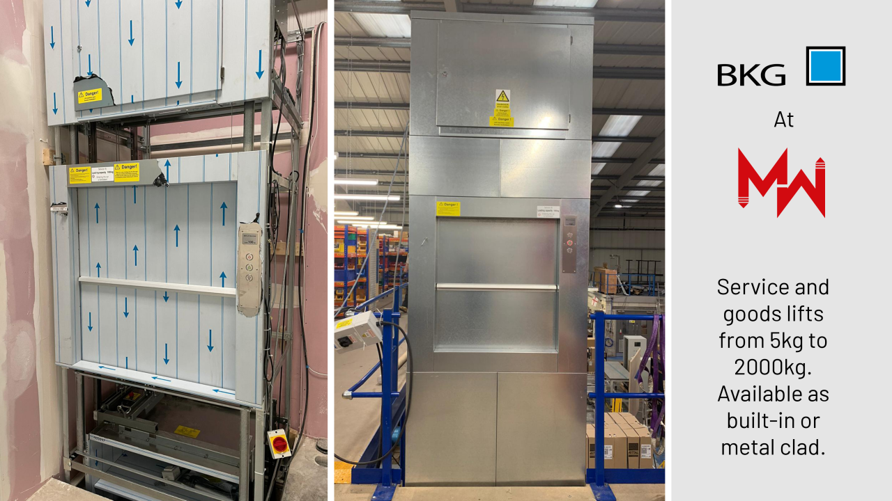 BKG Service and Goods lifts available at MW Lift Services Ltd.